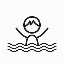 Blue Cute Happy Kids Pool Swimming Water Icon