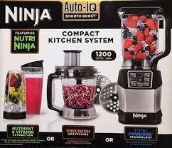 Nutri Ninja Blender System BL490UK2 With Auto IQ 12L Food Processor 1200W