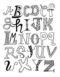 Alphabet different styles
