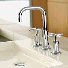 Kohler Purist Freestanding Tub Filler by Bathroom Kohler Bathroom Faucets Brushed Nickel Kohler Purist