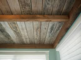 Installing Drywall On Ceiling In Basement by How To Install A Reclaimed Wood Ceiling Treatment How Tos Diy
