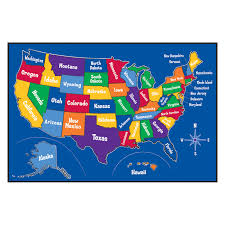 Us State Map Puzzle Web Game The 50 States Of United Labeling Interactive Usa Within