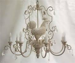 Morgan Associates French Chicken Rooster Chandeliers Chan 71C