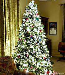 Tree Lights With Clear Flocked Christmas Multicolor 45 Ft Dunhill Fir Artificial