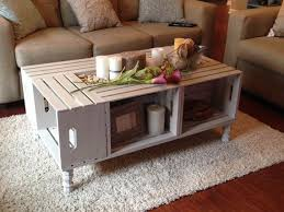 Inspirational Wooden Crate Coffee Table 83 For Home Decorating Ideas With