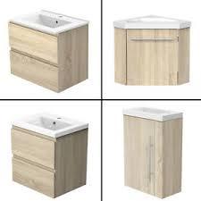 details zu badmöbel 40 45 50 60cm eiche mit unterschrank waschtisch badezimmer möbel schub