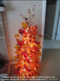 Walmart White Christmas Trees 2015 by Make A Fall Tree With A Tomato Cage Home Depot Lowes Walmart A