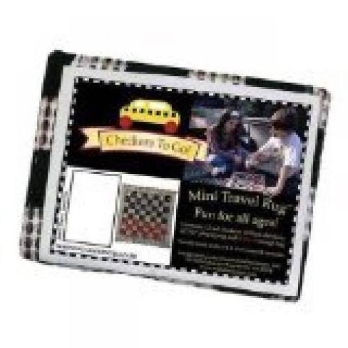 Multiflex Designs Checkers To Go Mini Travel Rug