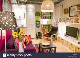 ein show schlafzimmer bei ikea möbel shop uk