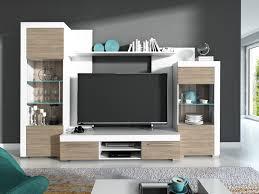 details zu wohnwand avio wohnzimmer set anbauwand vitrine wandboard tv lowboard braun weiß