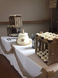 Rustic Wedding Cupcake Cake Display