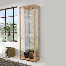 glass display cabinet ebay