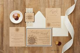 Rustic Sunflower Wedding Invitation Suite With Laser Cut Band