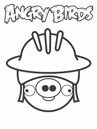 Angry Birds Helmet Pig Coloring Pages