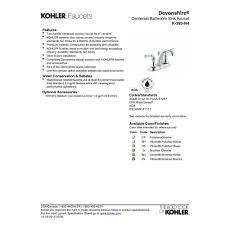 Kohler Devonshire Faucet Brushed Nickel by Kohler K 393 N4 Cp Devonshire Polished Chrome Two Handle Centerset