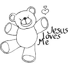 Heart Coloring Pages Jesus Loves Me Preschool