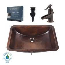 Undermount Bathroom Sinks Home Depot by Sinkology Pfister All In One Curie Undermount Bathroom Sink Design