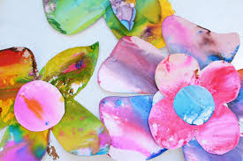 Watercolor Flowers Toddler Art Activity