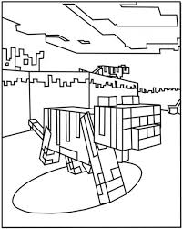 Minecraft Ocelot Coloring Pages 550x687 Picture