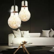 2er set design hängelen schlafzimmer glühbirnen drahtgeflecht pendelleuchten
