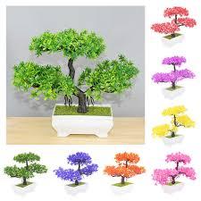 1pc künstliche pflanzen bonsai kleine kiefer topf gefälschte blume pflanze für wohnzimmer büro tisch ornamente begrüßung pines bonsai