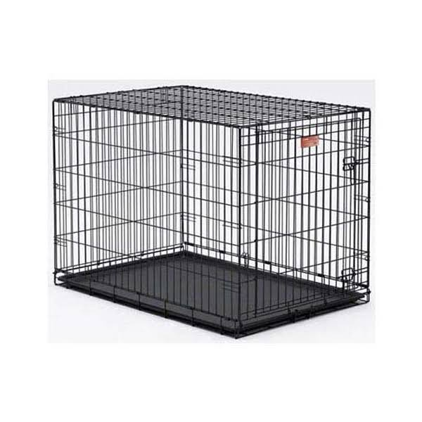 "Midwest Life Stages Single-Door Folding Metal Dog Crate - 42"" x 28"" x 31"""