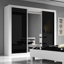 armoire chambre adulte chambre adulte complte design blanc et noir laqu milan bedroom