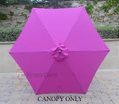 Market Umbrella Replacement Canopy 8 Rib by Patio Umbrella Replacement Cover Canopy 6 Ribs Fuchsia