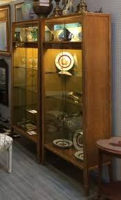 Pulaski Mcguire Bar Cabinet by Henredon Scene One Campaign Crystal Curio Liquor Cabinet Bar Hutch