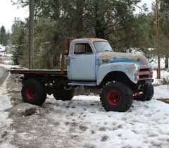 1954 Chevy 1 Ton 4 X 4 Rat Rod Flat Bed Truck With 42