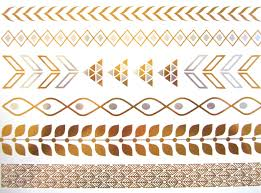 TATTOOS New Metallic Temporary Tattoos