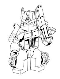Print Lego Transformers Coloring Pages Printable Bumblebee Transformer Free Superhero