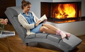 casaria relaxliege liegesessel wohnzimmer leinen optik grau stoff ergonomisch 186x55cm modern liege relaxsessel