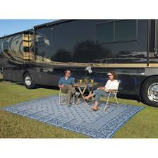 Reversible Patio Mat 8 X 16 by Reversible Patio Mat Outdoor Indoor Camping Rug 9x12 Blue Rv Floor