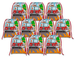 100 Fire Trucks Kids Amazoncom Fighter Drawstring Bags Birthday
