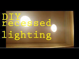 diy how to install led recessed lighting kitchen living room