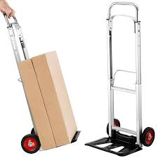 VonHaus 200lb Folding Hand Truck/Dolly With Telescopic Handle ...