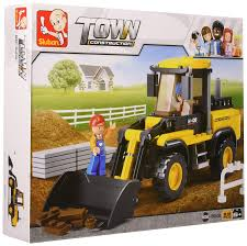 100 Bricks Truck Sales Amazoncom Sluban Construction Forklift 212 Pieces In