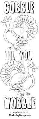 Gobble Til You Wobble View Print This Thanksgiving Coloring Bookmark
