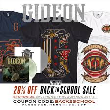 Gideon - Facedown Records Is Having A 20% OFF BACK TO ... Merch Now Coupons Home Facebook Doxon Toyota Folica Com Promo Code Merchnow 20 Off Whitechapel Merch With Coupon Promo New User Lazada Discount Skate Store Lacombe Corn Maze Hours Tokens And Icons Rockabilia Codes Ag Jeans Nyc Coupons Belk Online Churches Canada Truwhip 2 Piccolo Spoleto Kiss My Southern Sass Toolstation 2019 Human Hair Robot 4 Figurine Delayed By Months Wont Ship