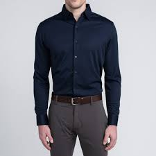navy men u0027s performance professional dress shirt ministry of supply