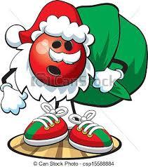 Free Christmas Bowling Clipart 4