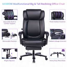 Shop For VANBOW Big And Tall Reclining Leather Office Chair ... Serta Big Tall Commercial Office Chair With Memory Foam Multiple Color Options Ultimate Executive High Back 2390 Lifeform Chairs Charcoal Fabric Padded Flip Arms 12 Best Recling Footrest Of 2019 Safco Serenity And Highback Hon Endorse Hleubty4a Adjustable Arms Lazboy Leather Galleon 2xhome Black Deluxe Professional Pu Ofm Fniture Avenger Series Highback Onespace Admiral Iii Mysuntown Bonded Swivel For Users Ergonomic Lumbar Support