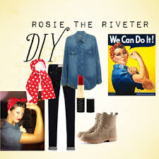 Rosie The Riveter Halloween Tutorial by Costume Diy Rosie The Riveter