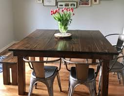 Custom 58 X Square Farmhouse Table With A Traditional Top In Vintage Dark