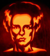 Easy Frankenstein Pumpkin Carving by Here U0027s Zombiepumpkins Com U0027s Frankenstein U0027s Bride On A Real Pumpkin
