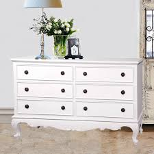 6 Drawer Dresser White by Baroque French Provincial White Painted 6 Drawer Bedside Bedroom