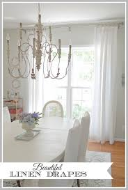 Beautiful New Linen Drapes In The Dining Room And Affordable Source For Custom Draperies