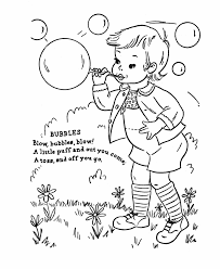 Nursery Rhyme Coloring Pages To Go Along With Unpopable Bubbles