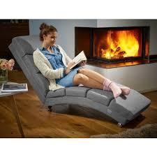 casaria relaxliege liegesessel wohnzimmer ergonomisch 186x55cm modern relaxsessel liegestuhl stoff anthrazit